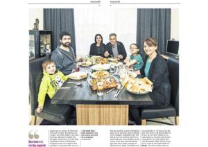familie Aktas aan de eettafel