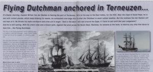 De Vliegende Hollander gaat voor anker in Terneuzen, artikel in Port News nr. 2 van jaargang 2006