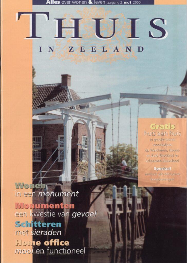 Artikel over wonen aan het water in Thuis in Zeeland, magazine over wonen en leven in Zeeland, editie 2 - 2003