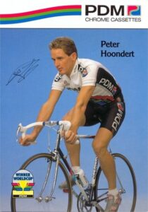 Peter Hoondert als profwielrenner bij PDM - foto www.dewielerwebsite.nl